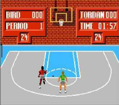 Игра Денди Jordan vs Bird: One on One (Джордан Против Берда: Один на один) онлайн